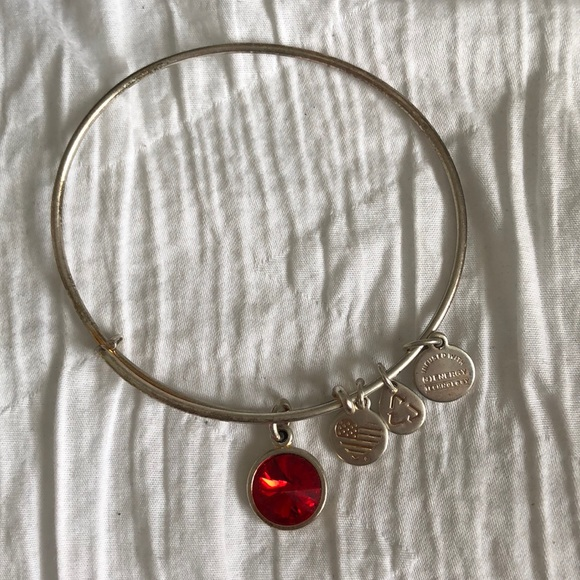 f80c3b8b02 Alex and Ani Jewelry - Silver Ruby July Birthstone Alex and Ani bracelet